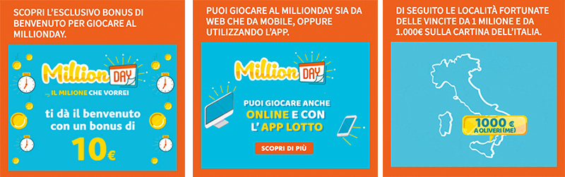 come funziona million day online